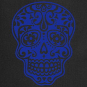 Mexican skull, floral pattern - Days of the Dead T-Shirts - Cooking Apron