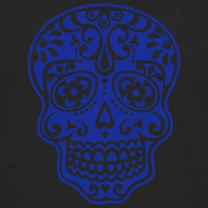 Mexican skull, floral pattern - Days of the Dead T-Shirts - Men's Premium Longsleeve Shirt
