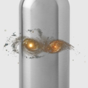 Space - Colliding Galaxies - Water Bottle