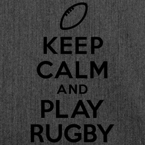 Keep calm and play Rugby Sweat-shirts - Sac bandoulière 100 % recyclé