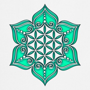 Flower of life, Lotus - Flower, Heart Chakra, green, Symbol of perfection and  T-shirt - Grembiule da cucina