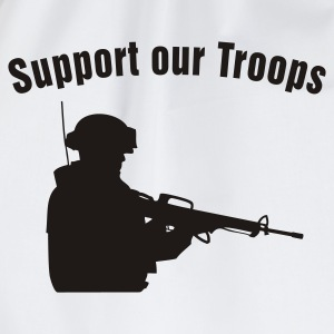 Support our Troops / soldier T-shirts - Gymnastikpåse