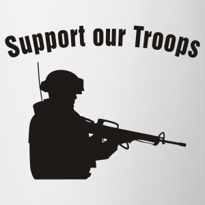 Support our Troops / soldier T-skjorter - Kopp