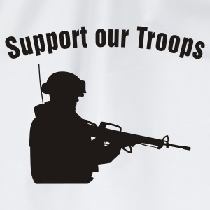 Support our Troops / soldier Camisetas - Mochila saco