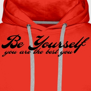 be yourself T-Shirts - Men's Premium Hoodie