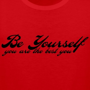 be yourself T-Shirts - Men's Premium Tank Top
