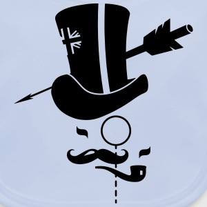 Cylinder hat, mustache, monocle, pipe and arrow Shirts - Baby Organic Bib