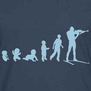 evolution biathlon tir debout men adult Tee shirts - T-shirt manches longues Premium Homme