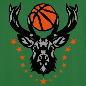 basketball cerf bois logo animal deer 20 Sweat-shirts - Maillot de football Homme