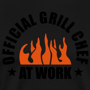 Official Grill Chef at Work. BBQ Barbecue Koch  Sc - Männer Premium T-Shirt