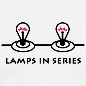 lamps_in_series_p1 Kookschorten - Mannen Premium T-shirt