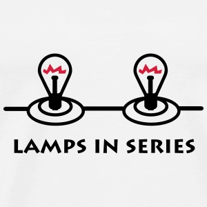lamps_in_series_p1 Caps & luer - Premium T-skjorte for menn