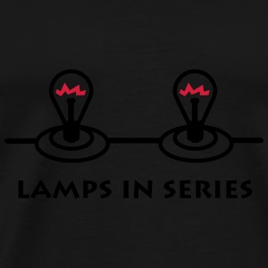 lamps_in_series_p1 Paraply - Premium T-skjorte for menn