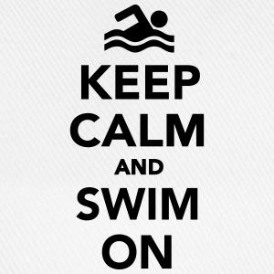 Keep calm and swim on Sonstige - Baseballkappe