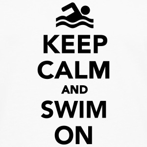 Keep calm and swim on Sonstige - Männer Premium Langarmshirt