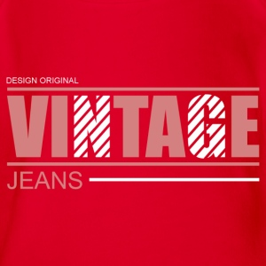 vintage jeans design original Tee shirts - Body bébé bio manches courtes