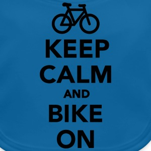 Keep calm and bike on T-Shirts - Baby Bio-Lätzchen