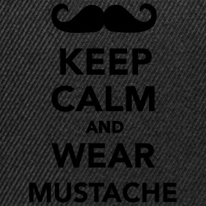 Keep calm and wear mustache T-Shirts - Snapback Cap