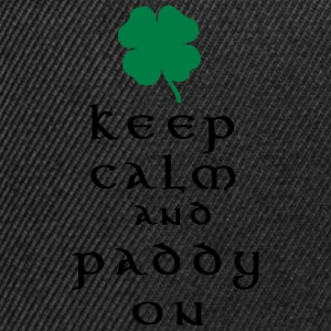 keep calm and paddy on T-Shirts - Snapback Cap