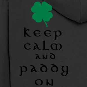keep calm and paddy on T-Shirts - Men's Premium Hooded Jacket