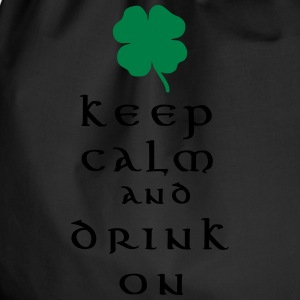 keep calm and drink on T-shirts - Gymnastikpåse