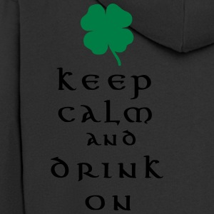 keep calm and drink on T-Shirts - Men's Premium Hooded Jacket