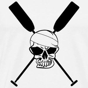 Crossed paddle skull dragon boat canoe 1 c. Hoodies & Sweatshirts - Men's Premium T-Shirt
