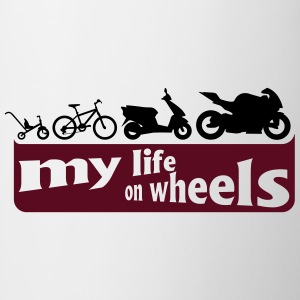 my life on wheels - Motorrad T-shirts - Mugg