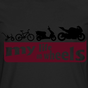 my life on wheels - Motorrad T-shirts - Långärmad premium-T-shirt herr