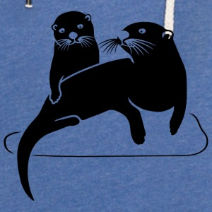otter beaver fish sea lake river Accessories - Light Unisex Sweatshirt Hoodie