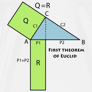 first_theorem_of_euclid_p1 Hoodies - Men's Premium T-Shirt