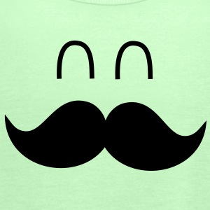 Funny Mustache Face Sweatshirts - Dame tanktop fra Bella