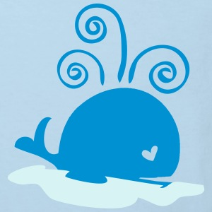 Sea whale baby one -Piece - Kids' Organic T-shirt