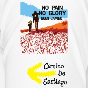 No pain No Glory buen camino  water bottle - Men's Premium T-Shirt