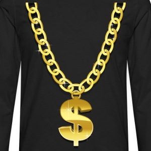 Gold Chain T-Shirts - Men's Premium Longsleeve Shirt