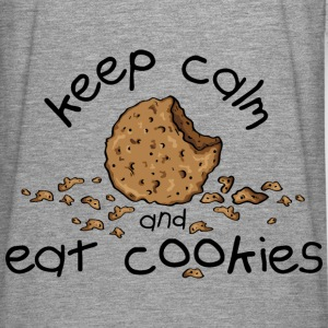 Keep calm and eat cookies Sudadera - Camiseta de manga larga premium hombre
