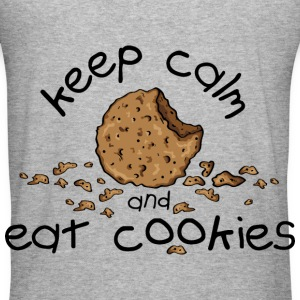 Keep calm and eat cookies Pullover & Hoodies - Männer Slim Fit T-Shirt