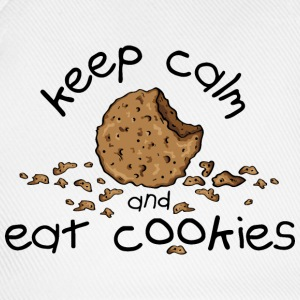 Keep calm and eat cookies T-Shirts - Baseballkappe