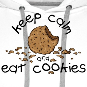 Keep calm and eat cookies T-Shirts - Männer Premium Hoodie