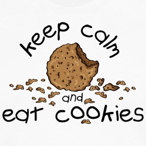 Keep calm and eat cookies Tabliers - T-shirt manches longues Premium Homme