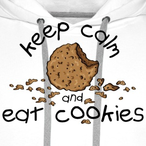 Keep calm and eat cookies Magliette - Felpa con cappuccio premium da uomo