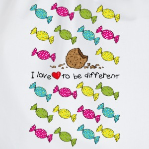 I love to be different- cookie Shirts - Drawstring Bag