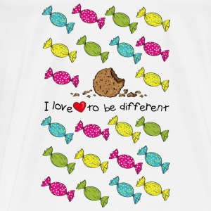 I love to be different- cookie T-shirts - Herre premium T-shirt