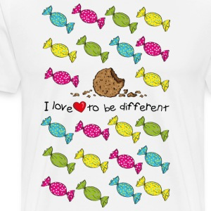 I love to be different- cookie Forklær - Premium T-skjorte for menn