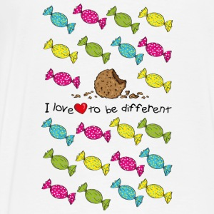 I love to be different- cookie Hoodies - Men's Premium T-Shirt