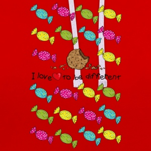 I love to be different- cookie T-Shirts - Kontrast-Hoodie