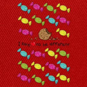 I love to be different- cookie Tee shirts - Casquette snapback