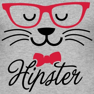 Swag hipsta hipster pussy cat animal style face Sudaderas - Camiseta ajustada hombre