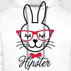 Like a hipsta hipster easter bunny rabbit face Sweats - Sweat-shirt à capuche Premium pour hommes