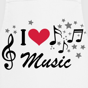 I love Music * music Treble Clef Heart star Shirts - Cooking Apron